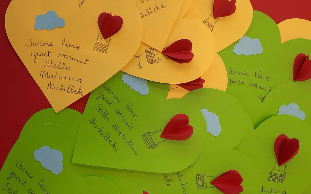 Leerlingen Stella Matutina sturen kaartjes